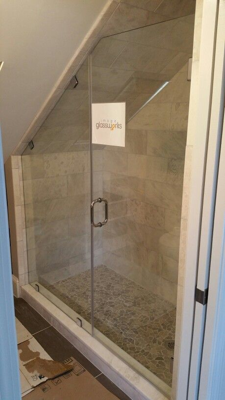 31 best showers and tubs images on pinterest bathroom for Small attic bathroom sloped ceiling