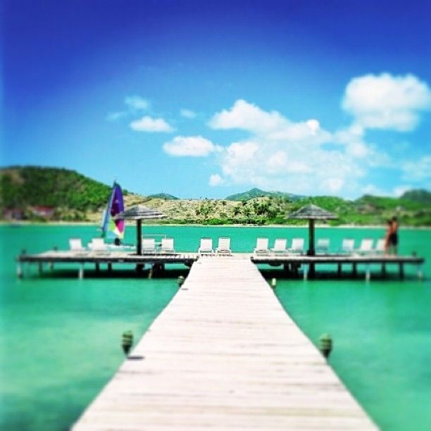 Pier at St James's Club Antigua