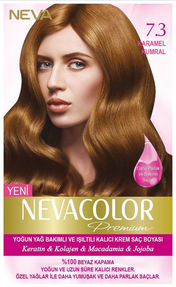 Neva Color Premium Sac Boyasi 7 3 Karamel Kumral Sac Sac