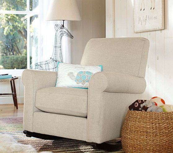 Pottery Barn Chairs And Ottomans: Charleston Upholstered Convertible Rocker