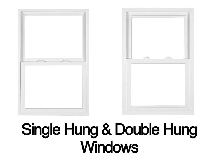 Single hung windows can be raised from the bottom only. Double hung windows can be opened from the bottom or lowered from the top.