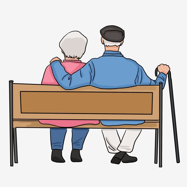 Back View Of The Elderly In Chongyang Festival Couple Old Man Old Man Close Together Senior Man Sitting In A Chair Old Man Clipart Red Sunset Couple Walking Man Sitting
