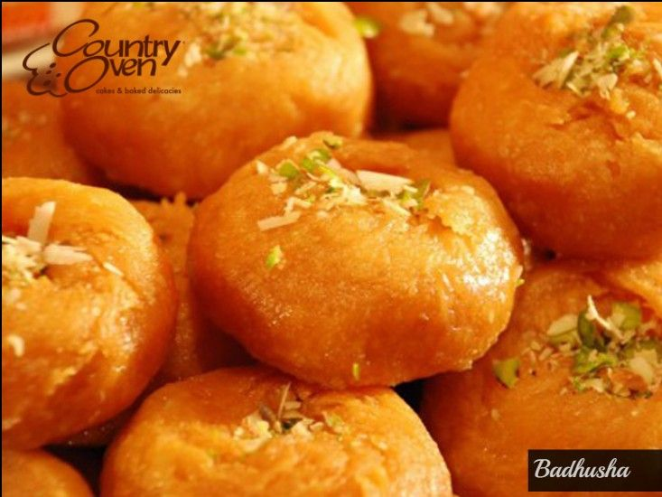 Temptingly delicious, mouth-watering Andhra special; traditional Badhusha is an ideal choice for all festive occasions. Order online @ countryoven.com  #Badhusha #Sweets #Indiansweets