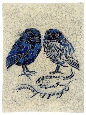 Iris Milward Poetry Greeting Card Two Owls