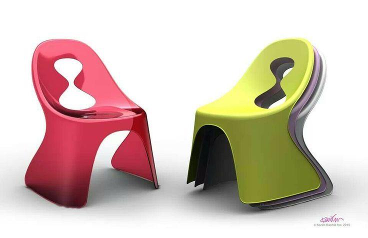 KANDY stacking chairs by Karim Rashid