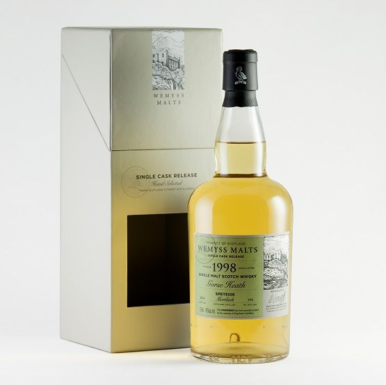 """""""Gorse Heath"""" a 1998 Mortlach is an exclusive single cask bottling for Kingsbarns Distillery. It conjures windswept gorse, polished wood and well-worn leather."""