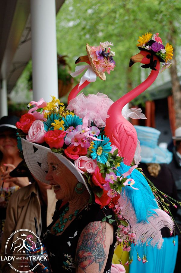 Pink Flamingo Madness! kentucky derby hats 2013 | 139th Kentucky Derby  Kentucky Oaks 2013 » Lady and The Track