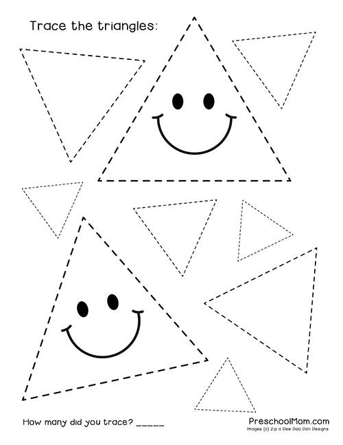 Free and Adorable Preschool Shape Tracing Worksheets ...