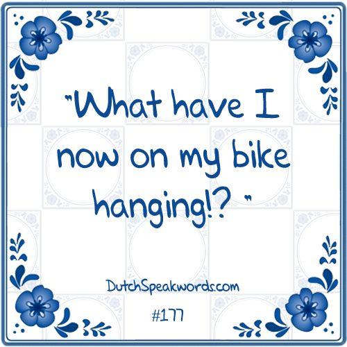 Wat heb ik nou aan mijn fiets hangen