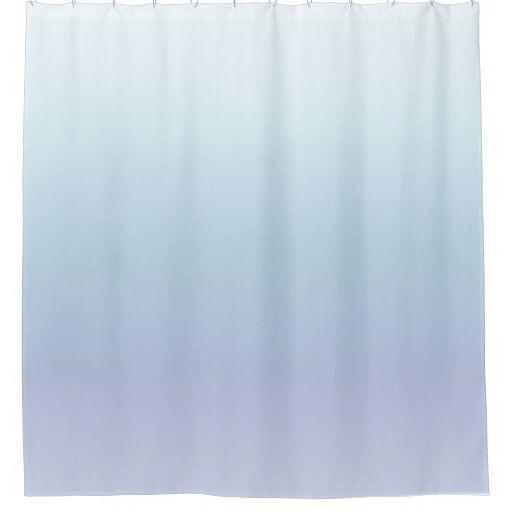 Pale Blue Pastel Gradient Shower Curtain