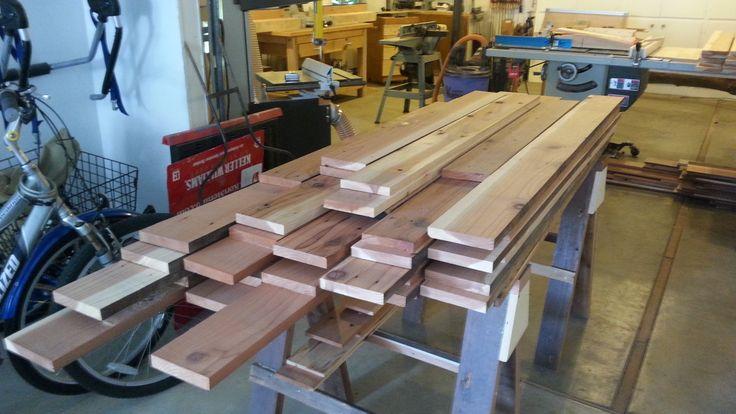 Redwood lumber pile