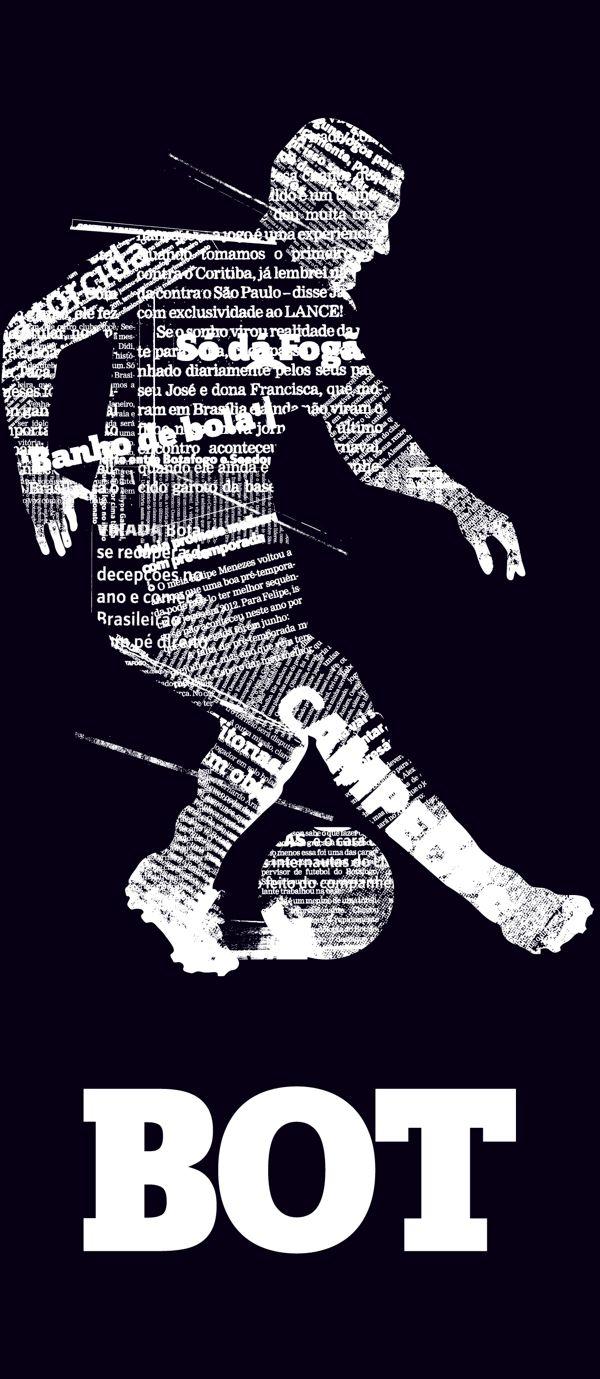 Banner do Botafogo que decora a redação do Lance!
