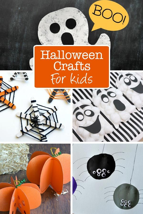 Here are 11 fun and easy Halloween arts and crafts projects for kids. Use these Halloween projects in the classroom or at home for fun this year. via @thetypicalmom
