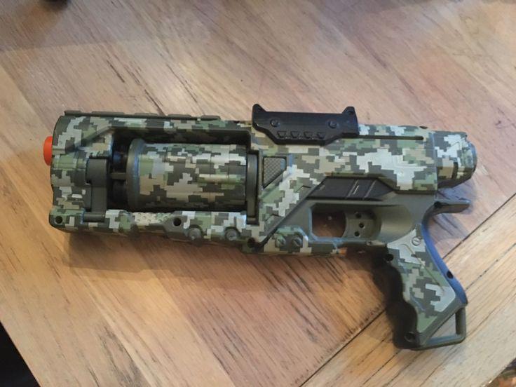 NERF (Roughcut 2x4) gun - Custom Painted and modded Nerf gun