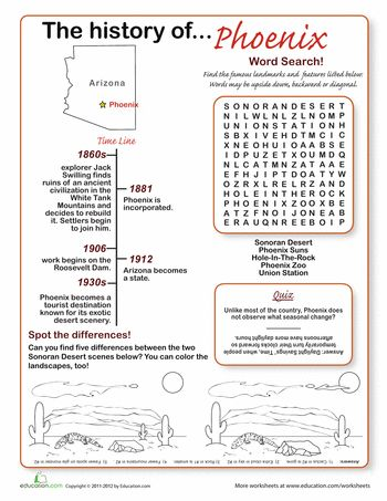 Worksheet Arizona Comprehension Stories 11 best arizona images on pinterest word search and history of phoenix