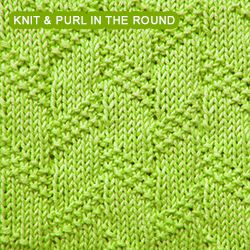 Diagonal Moss Stripe stitch. Worked using only knit and purl techniques. Enjoy! Knitting in the Round.