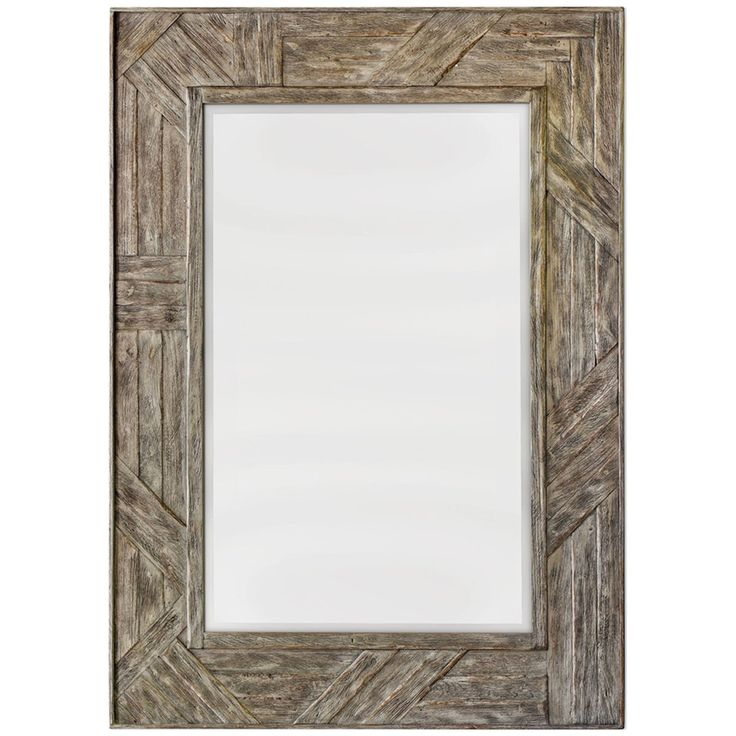 uttermost fortuo weathered driftwood frame mirror - Driftwood Picture Frame
