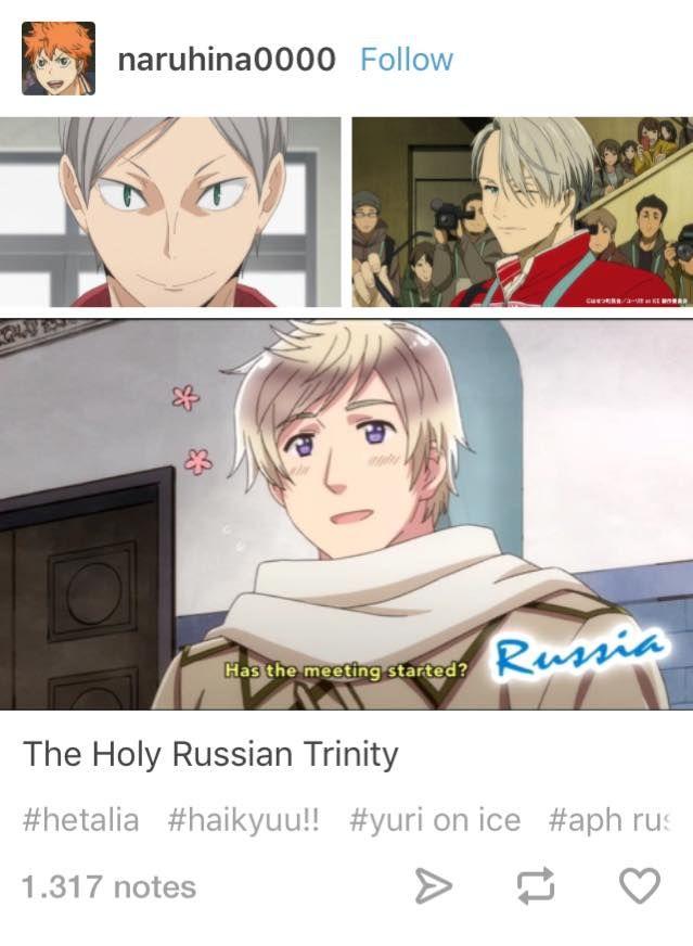 the holy Russian trinity