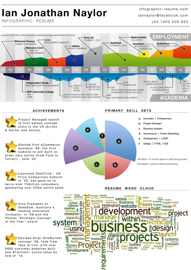 i love the way ian jonathan naylor u0026 39 s infographic resume displays his work experience above the
