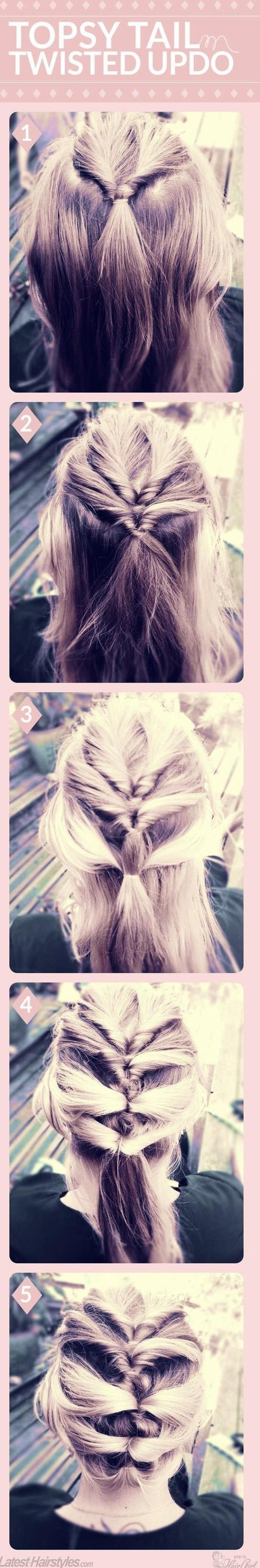 Short on time but wanting to craft a cute hairstyle? While you may not always have time for a gorgeous blowout or fancy updo, there are many different ways you can style your hair that take 10 minutes or less. Check out five more easy tutorials we scouted just for you! Missed our first roundup? Head here! PERFECT PONY FISHTAIL MERMAID BRAID NEW WEAVE TOPSY TAIL TWISTED UPDO BEACH WAVES (click for instructions) Which is your favorite style, girls? Do you ever use online DIY tutorials to do…