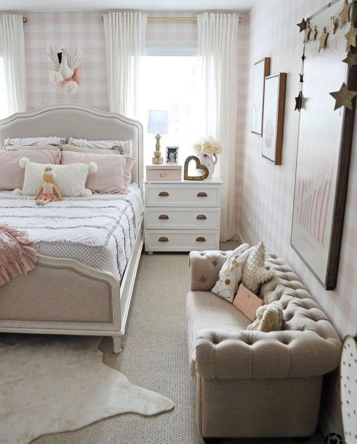 Ladna Kolorystyka Z Tym Ze Calosc Jest Troche Za Ksiezniczkowata Small Girls Bedrooms Cute Bedroom Ideas Small Room Bedroom