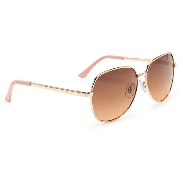 Aeropostale Square Aviator Sunglasses ($9.75) ❤ liked on Polyvore featuring accessories, eyewear, sunglasses, rose gold, aviator sunglasses, geometric sunglasses, aviator style sunglasses, uv protection glasses and rose gold aviator sunglasses