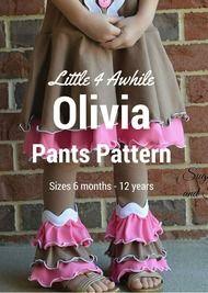 Olivia Stacked Ruffled Pants Pattern