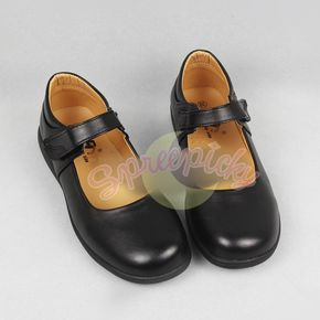 Cosplay/ Lolita Round Toe Matt Black PU Leather School Uniform Shoes SP141358