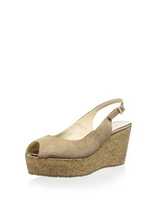 -49,800% OFF Jimmy Choo Women's Slingback Wedge (Nude)