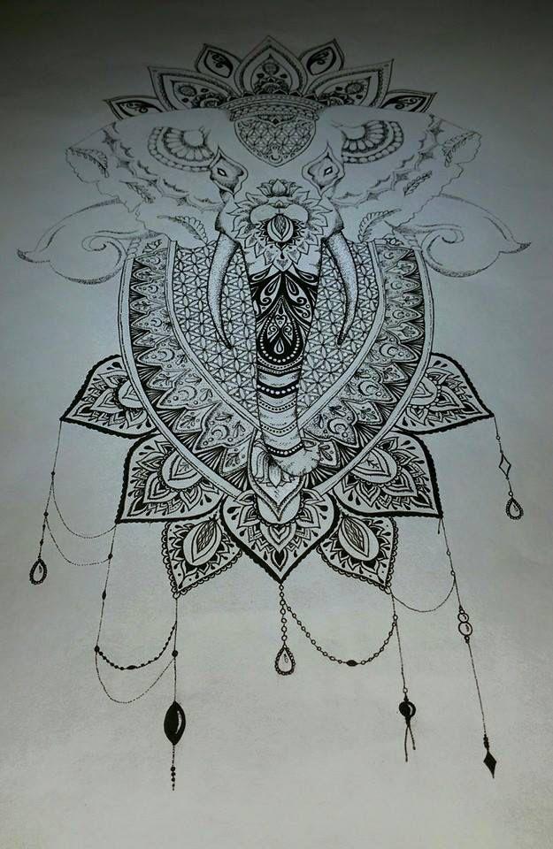 Mandala Elephant Finished By Tanjalouiseartist On Deviantart