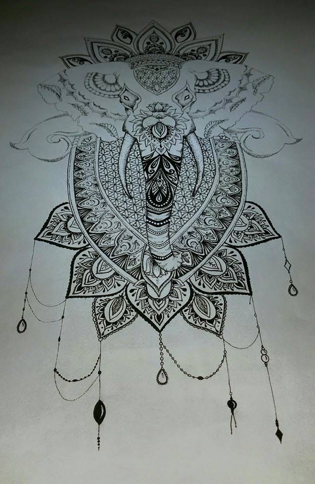 Mandala Elephant Finished by TanjaLouiseArtist on @DeviantArt