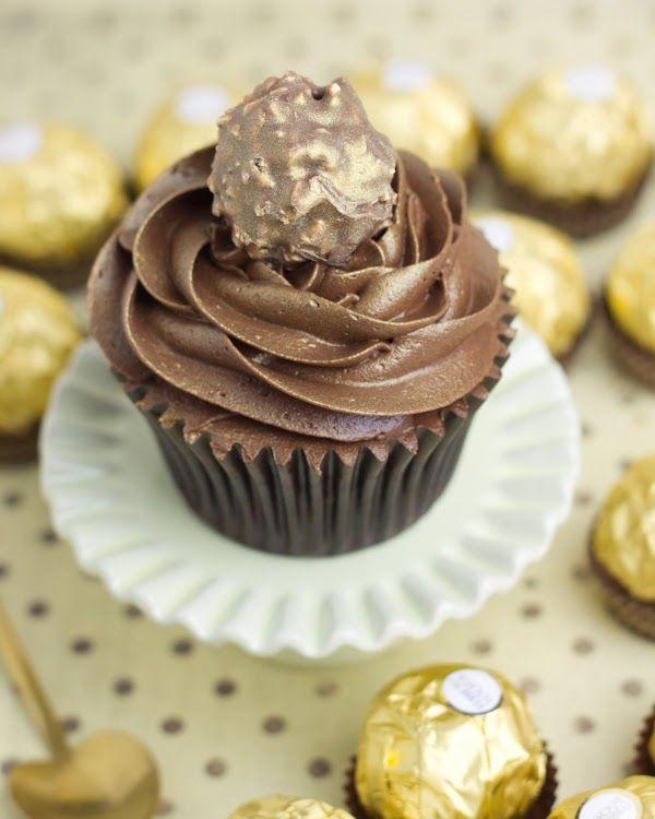 Cupcakes de Ferrero Rocher