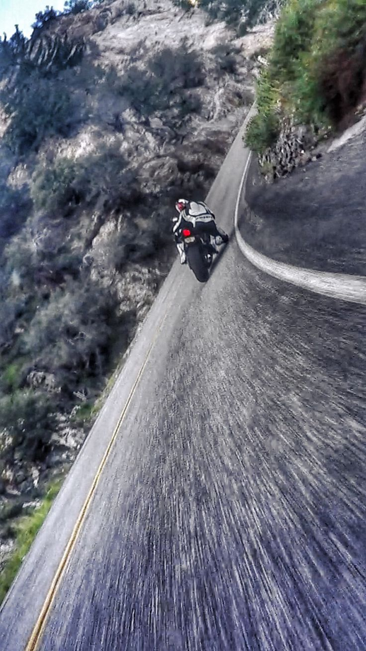 Knee down at The Angeles Crest hwy 2 California