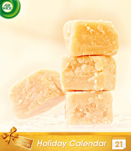 #Sweet homemade #vanilla fudge is sure to be a winner this #festive season.