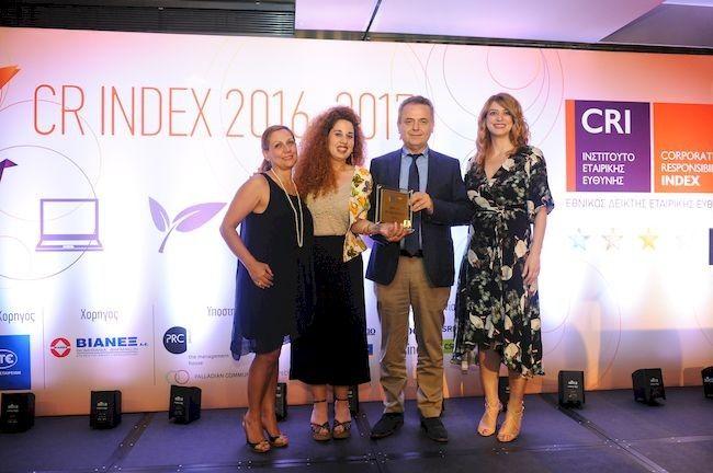 28/06/2017 Η ΔΕΠΑ τιμήθηκε με διπλή διάκριση στον Εθνικό Δείκτη Εταιρικής Κοινωνικής Ευθύνης (CR Index 2016-2017) του Ινστιτούτου Εταιρικής Κοινωνικής Ευθύνης ως επιβράβευση της στρατηγικής ΕΚΕ που υλοποιεί. Η εταιρία απέσπασε το βραβείο Gold ενώ παράλληλα της απονεμήθηκε και ειδική διάκριση «Έπαινος για το Περιβάλλον» - Environment Award για τη σημαντική πρόοδο που σημείωσε σε θέματα περιβάλλοντος.