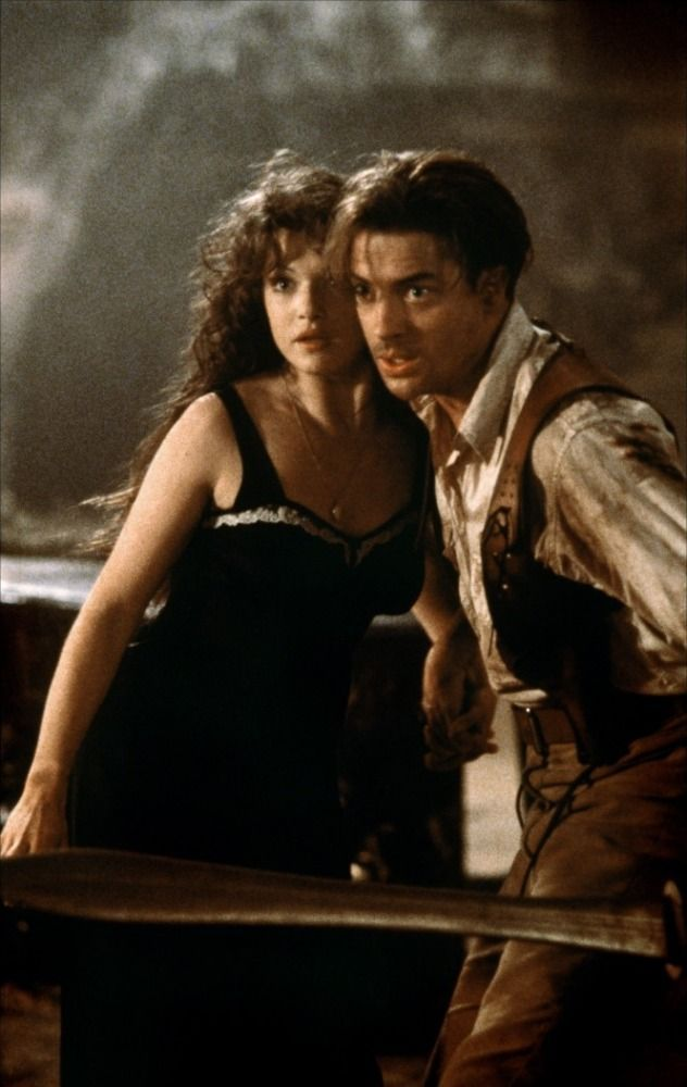 "The Mummy - Rachel Weisz as Evelyn ""Evie"" Carnahan O'Connell and Brendan Fraser as Richard ""Rick"" O'Connell"
