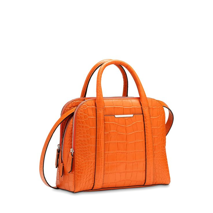 Sac porté main adjani orange femme - lancel 2
