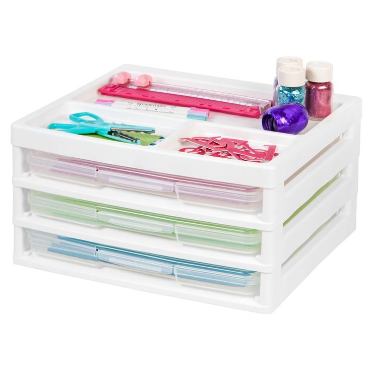Iris 3-Case Scrapbook Table Chest