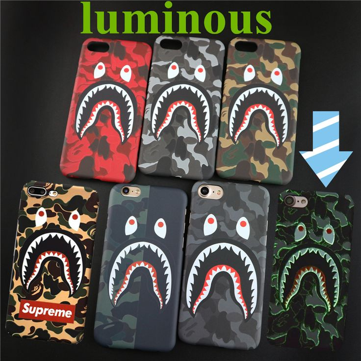 Fashion Cool Shark Cases For iPhone 6 case 6Plus 6s Plus 7 Plus 7 5.5  Rap YEEZY Season PABI Case Cover PC Phone Protector Cover