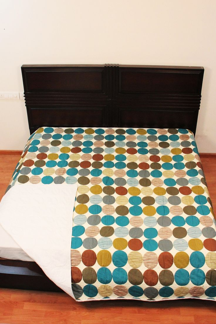 Decorative Home Décor Cotton Quilt Throw Circles Blanket Double Bed Home Furnishings