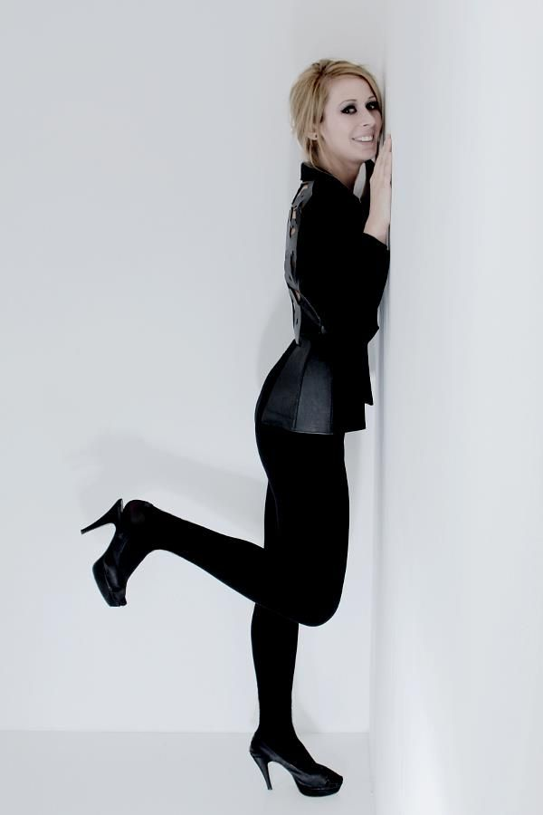 2012/2013 - I. Black leather - fabric blazer (baroque inspiration) #reuse #ecodesign #black #leather #blazer #study #work #fashion #fashiondesign