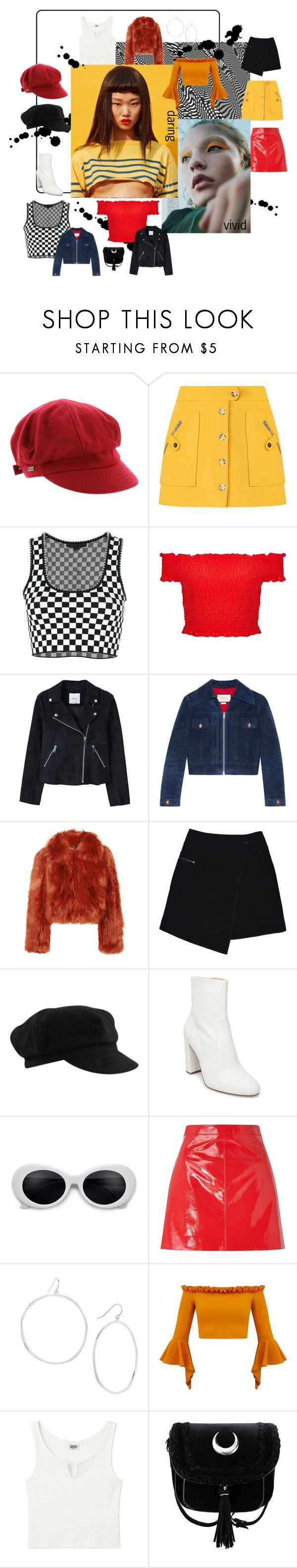 """""""Blast from the past"""" by snw62 ❤ liked on Polyvore featuring Betmar, Alexander Wang, Miss Selfridge, MANGO, Gucci, Maison Margiela, MARC CAIN, Steve Madden, Gorjana and contest"""