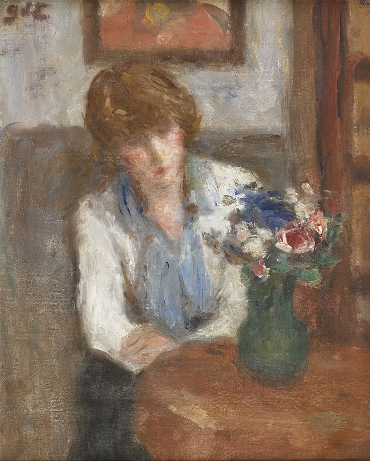 Woman with a Vase of Flowers,  Georges d'Espagnat. French (1870 - 1950)