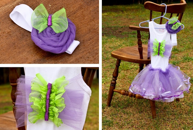tulle tutu & butterfly outfit