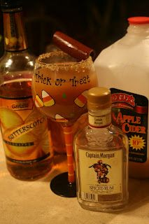 Adult Apple Cider - yum!  Apple Cider  Captain Morgan spiced run  Van Gogh caramel vodka