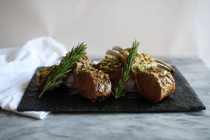Roast Rack of Lamb with a Garlic Crust | Jessica's Dinner Party