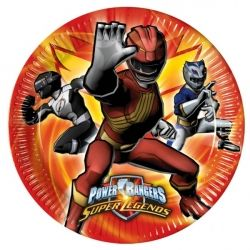 Power Ranger Super Legends Party Plates