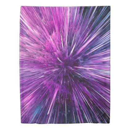 Super sonic - gorgeous purple duvet cover - party gifts gift ideas diy customize