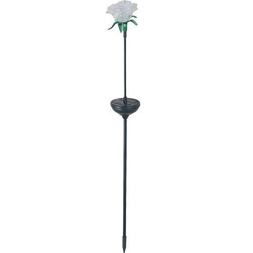Royce Lighting RL1214S-09 Solar Rose Stake 4 Piece Set with Multi Color Changing LED Lights Set in Black Finish by Royce Lighting. $49.90. This unique solar rose stake with multi color changing LED lights 4 piece set provides the perfect balance of charm and beauty for your outdoors. With a silicon solar panel, 1 white LED light and 3 color changing LED (red/green/blue) lights in black finish, this stake is great for lighting your garden or walkway, adding a fun touch to any...