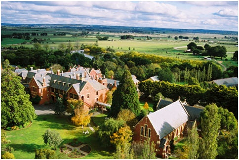 Aerial view of WorldMark Resort Ballarat, Victoria. Regarded as one of the region's grandest mansions, the resort sits on sprawling grounds and exudes historic charm...